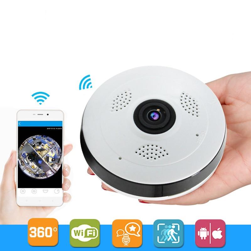 Caméra de Surveillance SACAM 360 degrés caméra panoramique sécurité à domicile vidéo Vision nocturne Fisheye 960 P Wifi Ip caméra fotocamera
