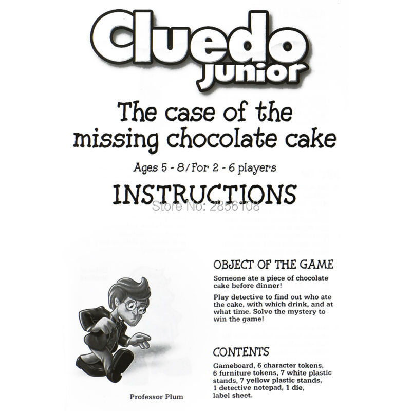 Aliexpress Buy Funny Cluedo Junior The Case Of The Missing