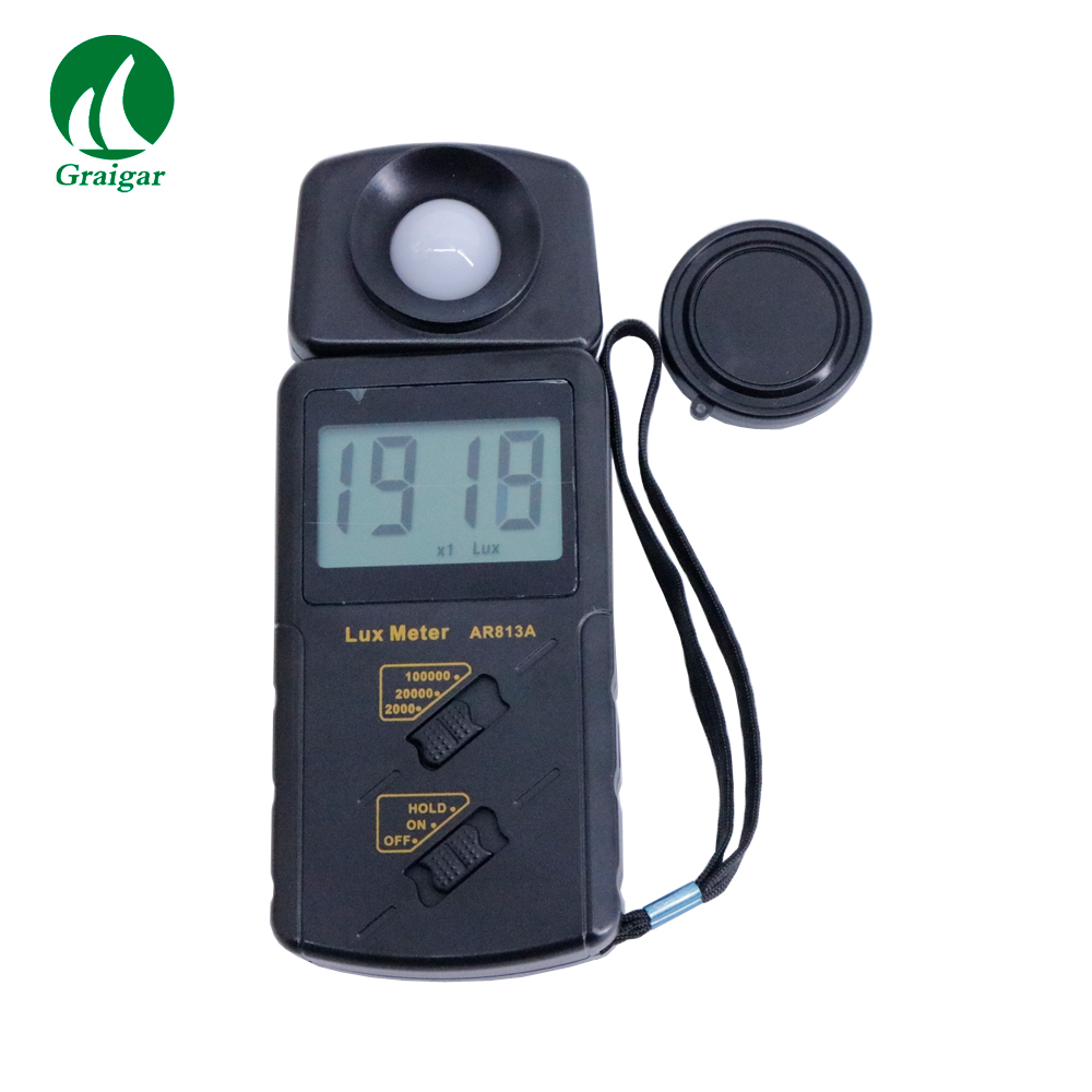Portable Digital Lux Meter Light Meter Photometer AR813A Sampling Frequency 2 time/sPortable Digital Lux Meter Light Meter Photometer AR813A Sampling Frequency 2 time/s