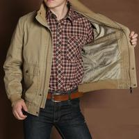 Fleece Warm Men Jackets And Coats Short Style Brand AFS JEEP 100 Cotton Loose Cargo Clothing