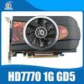 Оригинальный Новый видеокарт ATI Radeon HD7770 1 ГБ 128Bit GDDR5 сильнее, чем GTX650 и GT740