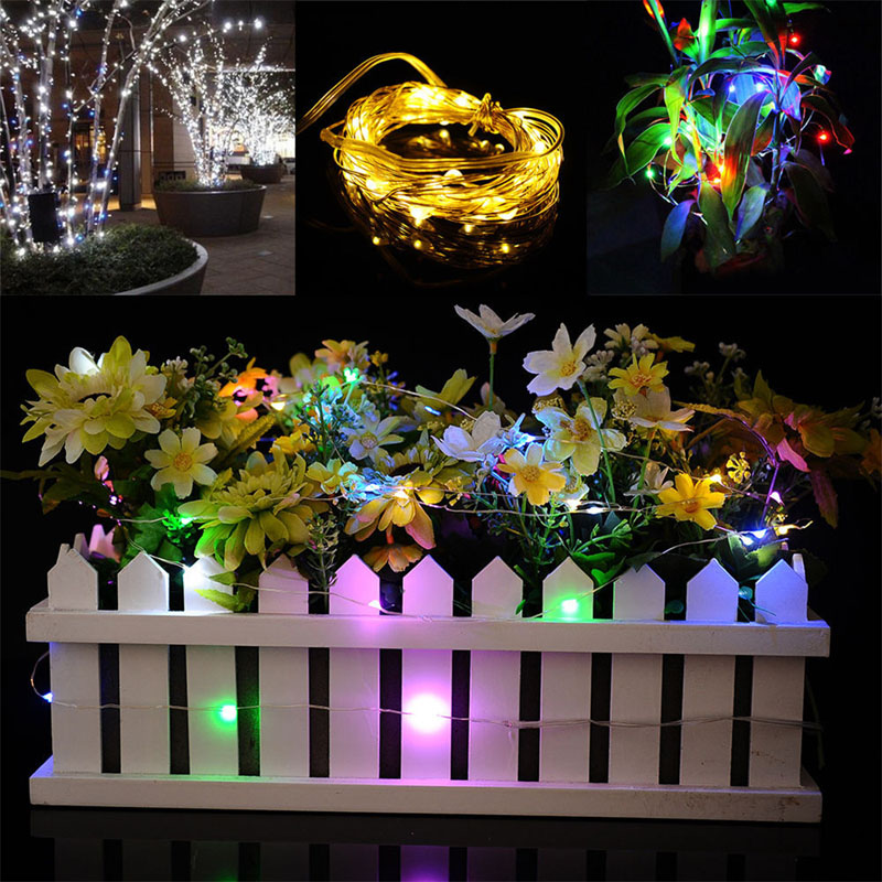 10pcs/lot 3M Waterproof Mini LED Copper Wire String Lights For Indoor Outdoor Christmas Wedding Party