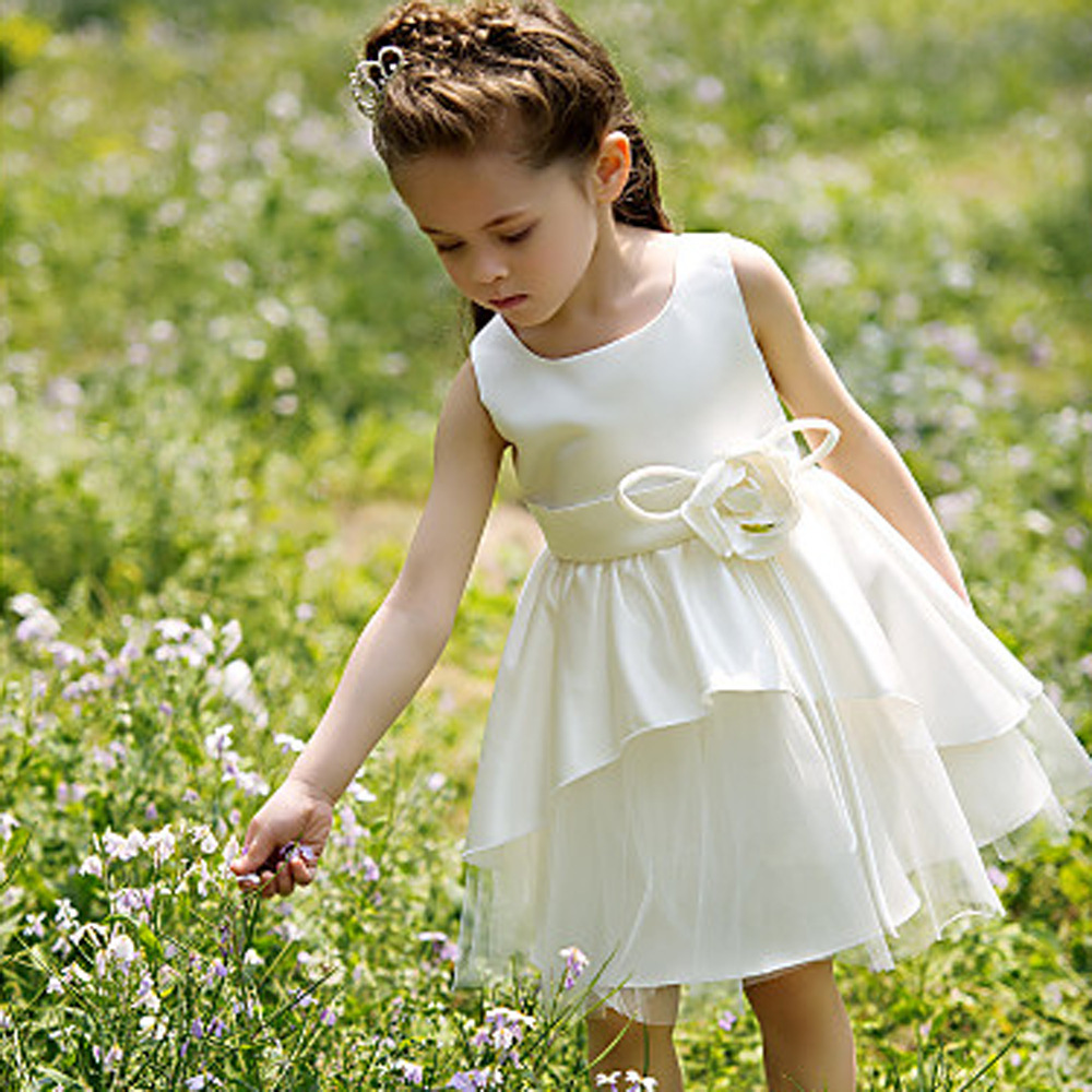 Elegant Wedding Girls Flower Girl dress Children Princess Dress Birthday Kids Gift Party Festival Dresses - KKiss BABY Family store