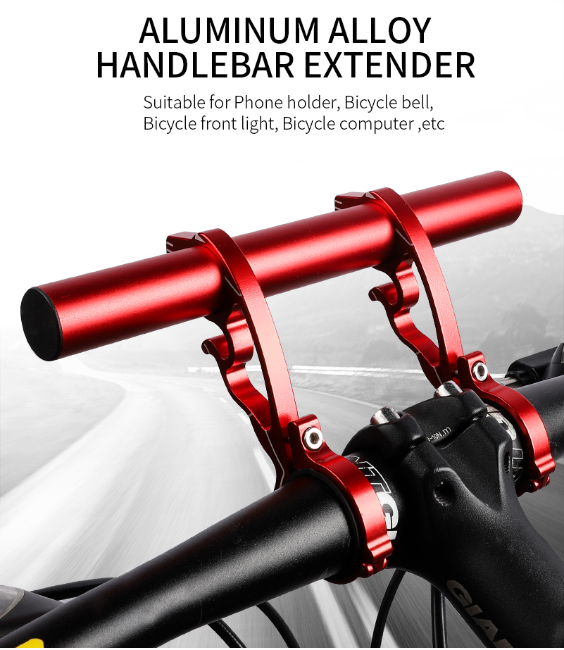 Bike Bicycle Riding Handlebar Extender Aluminum Alloy Extension Lamp Support