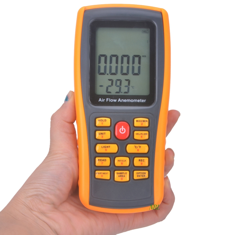цена на GM8902 Wind Speed Meter Air Flow Tester Air Temperature Meter Portable Handheld Anemometer With USB Interface Hot Selling