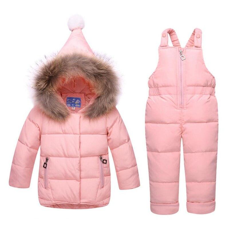 Комплекты одежды для маленьких девочек, зимние Пуховые парки, ветрозащитная одежда для младенцев, костюмы для малышей, пальто с капюшоном +