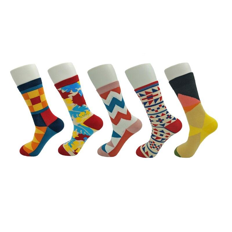 Men Women Colorful Happy Socks Casual Funny Harajuku Crew Cotton For All Seasons HSAG4