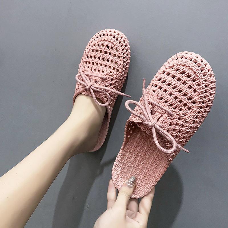 HKCP New female slippers baotou slippers non slip soft bottom shoes female style cave slippers slippers C013 in Slippers from Shoes