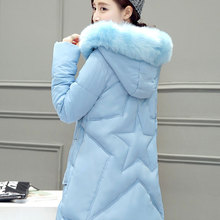 2016 autumn winter new women cotton coat outerwear thickening long section down cotton wadded jacket Plus Size women cotton coat