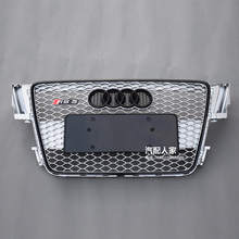 For Audi A5 RS5 Style black frame silver Front Bumper mesh Grill Grille Car styling 2008~2011