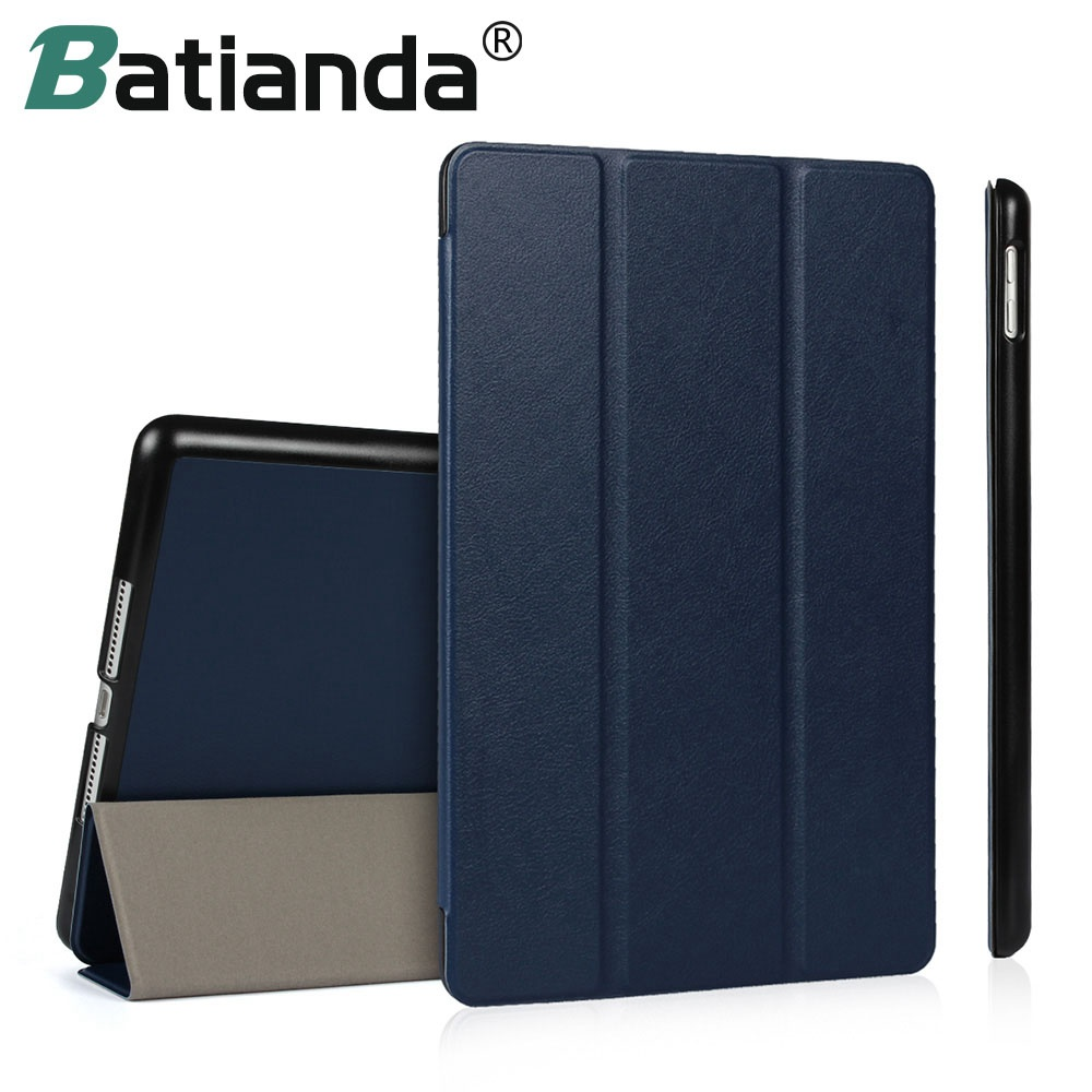 For New iPad 2017 iPad 9.7 inch Case Ultra Slim Smart Case 3 Folding Stand with Auto Sleep/Wake Back Cover For Apple iPAD 9.7 nice soft silicone back magnetic smart pu leather case for apple 2017 ipad air 1 cover new slim thin flip tpu protective case