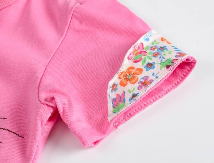 VIDMID Baby Girls t-shirt Short Sleeve Kids Clothes Brand Summer Tee T-Shirt Baby Girls Clothing bunny t shirt  Embroider 4