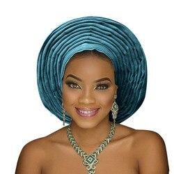 Coiffe de tête pour femmes | Afro-américaine aso ebi auto gele turban, belle couvre-chef pour fête de mariage