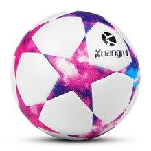 цена Kuangmi Football Ball Official Size 5 PVC Match Ball Professional Training Soccer Ball Bola De Futebol Dropshipping онлайн в 2017 году