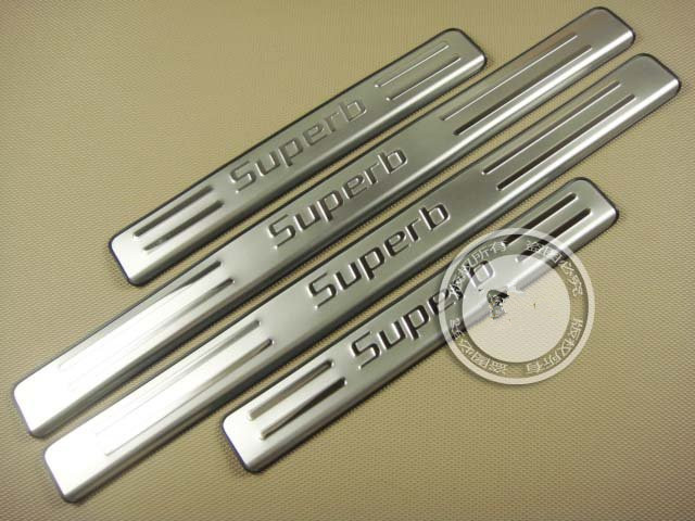 High quality stainless steel Scuff Plate/Door Sill for 2009-2012 Skoda Superb Car styling