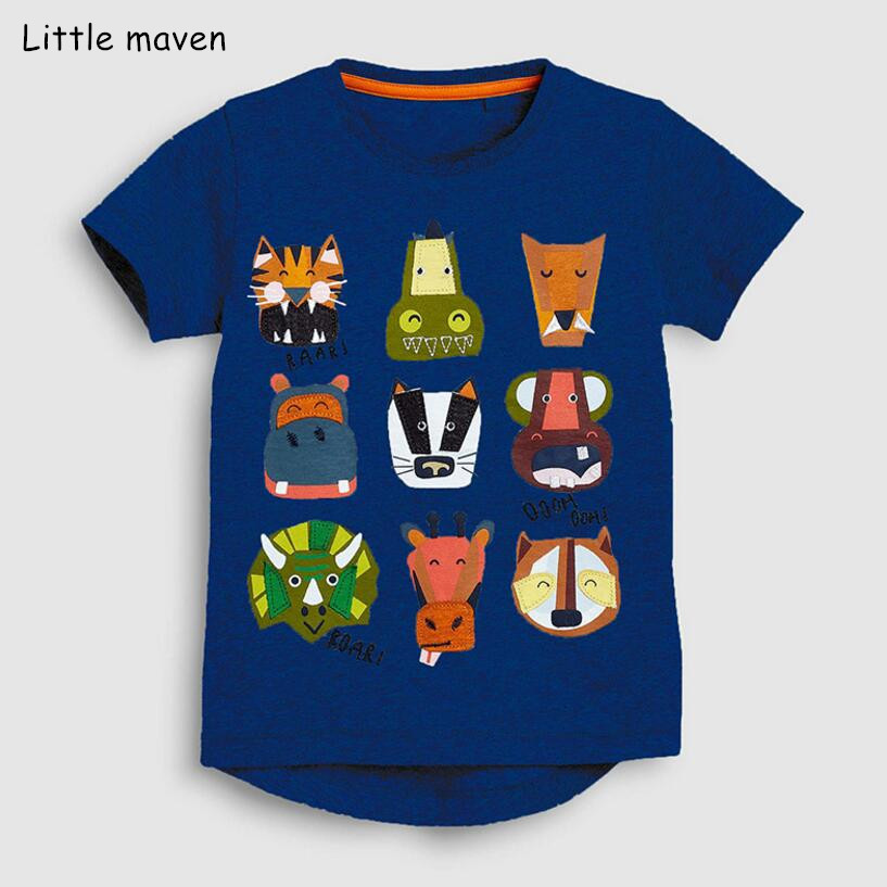 EU World Baby Boys T-Shirts Short Sleeve Cotton Cartoon Stripe Animal Pattern 1-7 Years