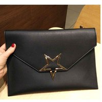 Simple Style Women Day Clutches High Quality Brand Desginer Woman Envelope Clutch Handbag Shoulder Bag Star
