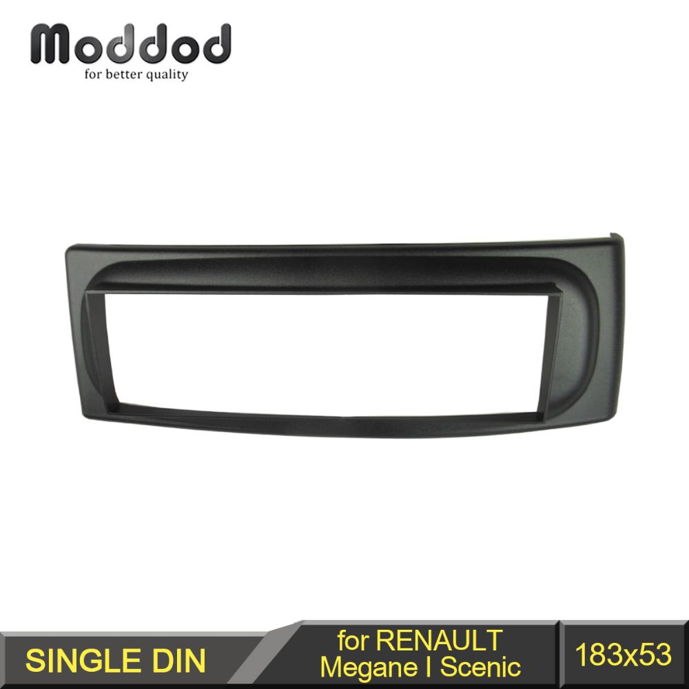 1 Din Radio Fascia för Renault Megane I Scenic 1996-2003 CD GPS DVD Stereo Panel Dash Mount Installation Trim Kit Frame