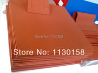 500X500X4mm AG Silicone Sponge Sheet 500mm Width 4mm Thickness Closed Cell Foam Silikon Sheet RED Color