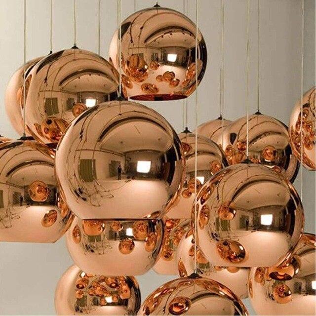 Chrome Golden Round Glass Tom Dixonss Pendant Lighting Bar Living ...