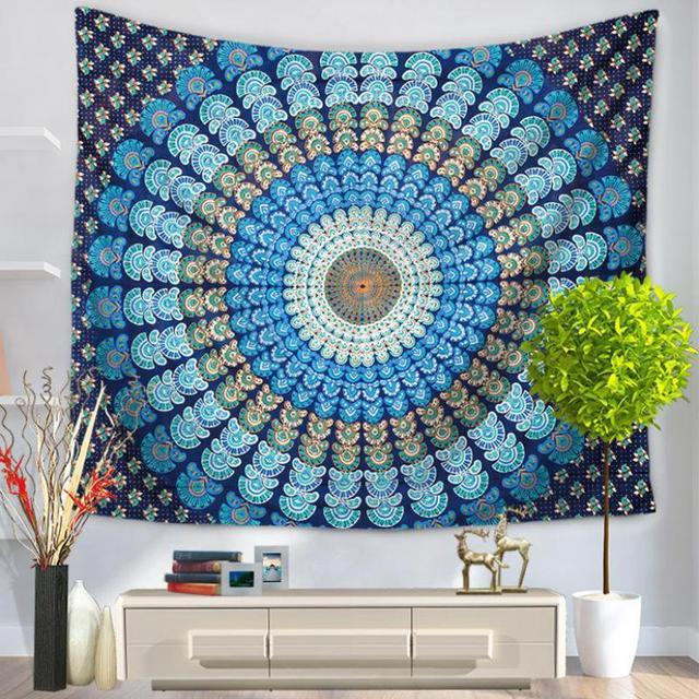 Modern Minimalist Bohemian Mandala Tapestry Polyester Wall Art ...