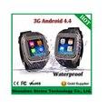 """Qintex relógio inteligente Android 4.4 MTK6572 Dual Core 4 G ROM 1.54 """" tela de toque capacitivo câmera de 3MP 3 G WIFI GPS Smartphone"""