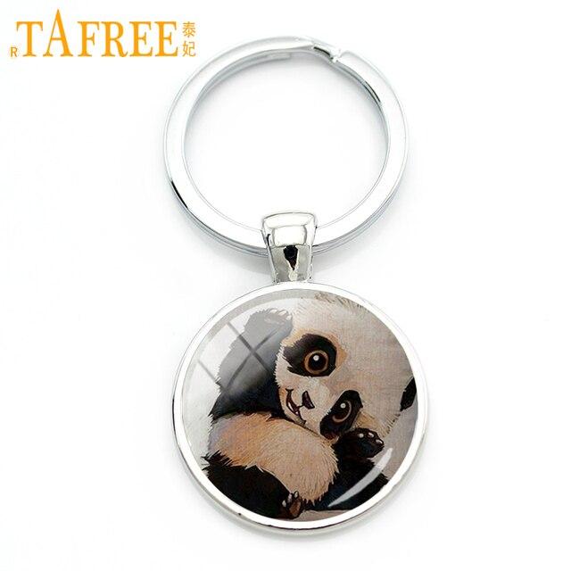 TAFREE 2017 Engraçado Panda keychain Preto preto olhos preto orelhas dos animais carinho Da Família o Amor de Mãe para mulheres homens presente jóias A317