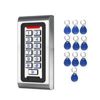 Crystal Button 3 10cm Card Reader 125khz Door Entry System Kits for Metal Standalone Access Control Keypad Code Access Reader