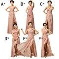 Cheap Custom made! Mix estilo longo Dividir Vestidos de cores do vestido de casamento Da Dama de honra, Vestido de baile vestido de festa mulheres Vestidos