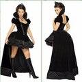 Fiesta de carnaval de Halloween traje del vampiro Reina Malvada reina ropa cosplay sexy hot negro vestido Ds trajes discoteca uniforme