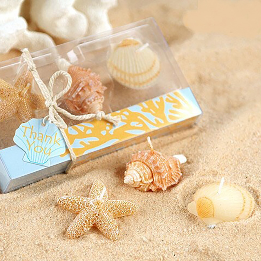 Creative Shell Craft Wedding Candle Favors Bougies D Coratives Gifts