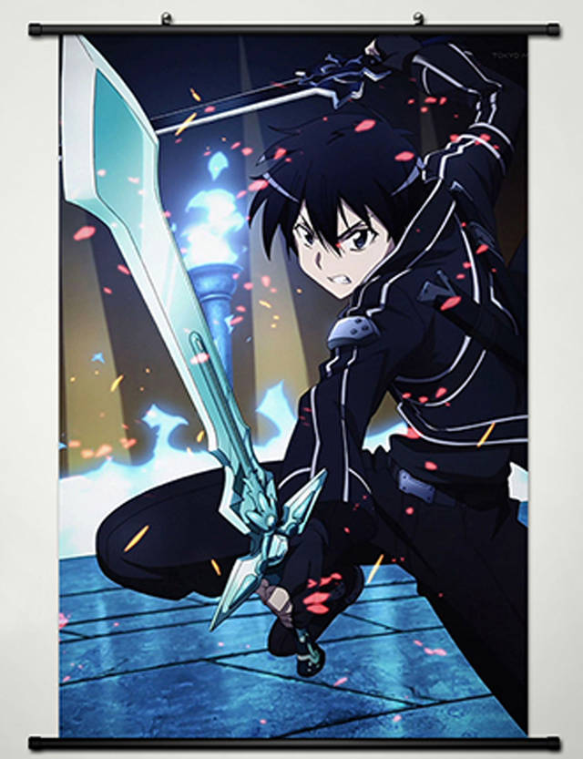 Home Decor Anime Sword Art Online Wall Scroll Poster ...