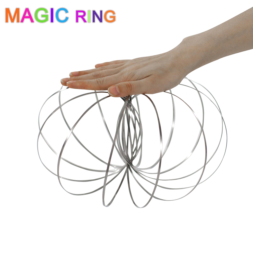 Toys & Hobbies Fidget Spinner Magic Flow Rings Intelligent Glow In Dark Stainless Steel Spring Fidget Toy Magic 3d Toroflux Toys