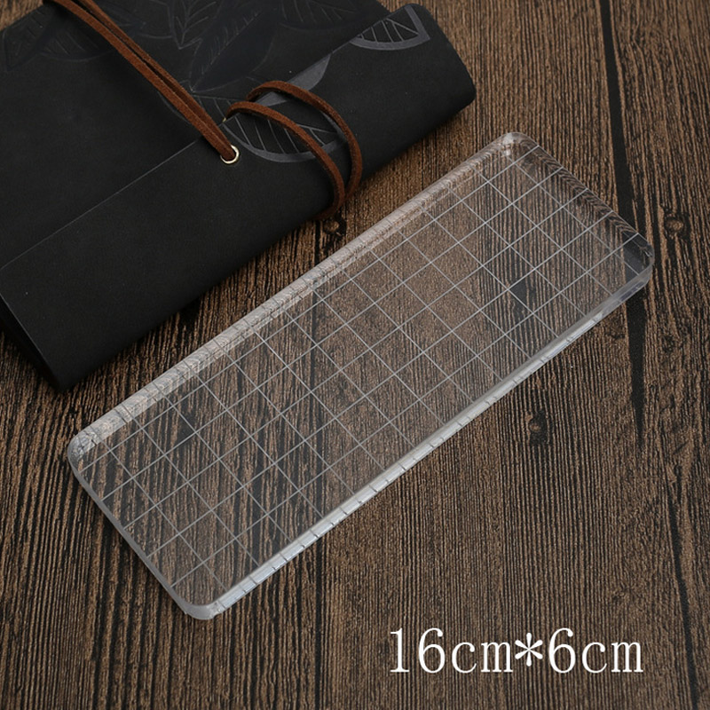 1 X Rectangle acrylic plate stamp accessories DIY scrapbooking photo album supplies