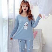 JRMISSLI Dog Print Cotton Pyjamas Crop Top