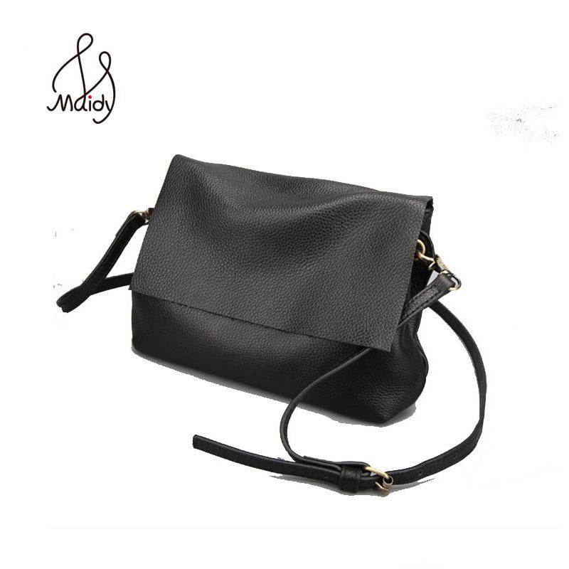 Vintage Handmade Handbags Women Bags Designer Shoulder Messenger Real Cowhide Bag Genuine Leather Natural Envelope Clutch Bag
