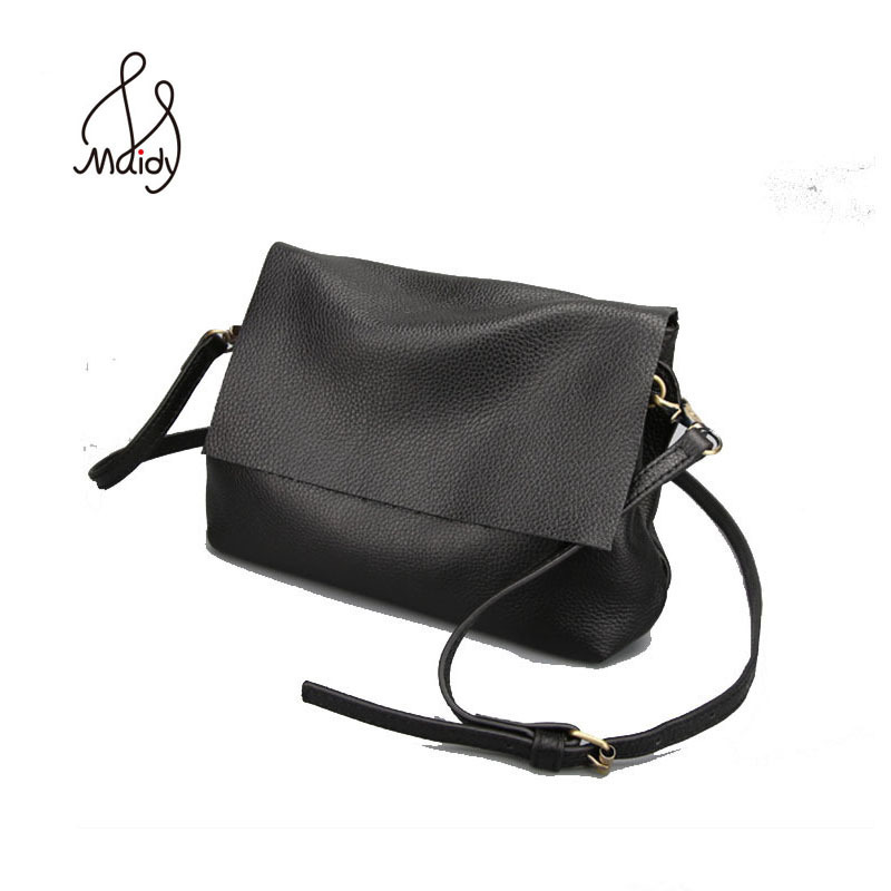 Vintage Handmade Handbags Women Bags Designer Shoulder Messenger Real Cowhide Bag Genuine Leather Natural Envelope Clutch Bag