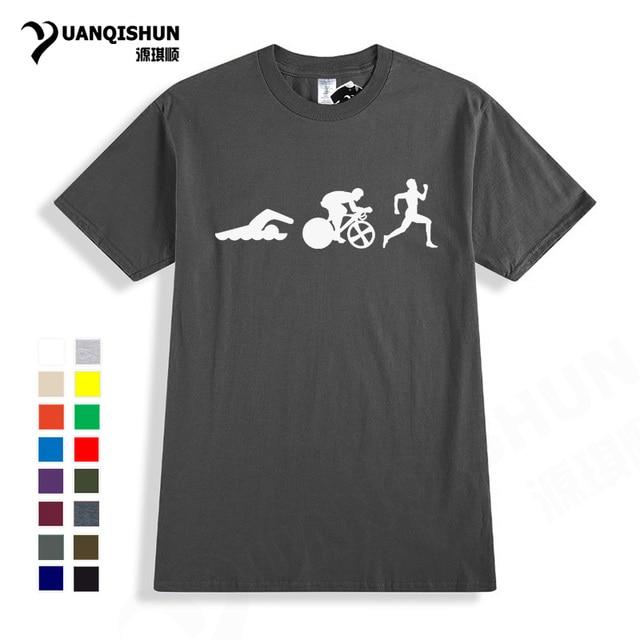 Triathlon T Shirt Birthday Gifts Idea Present For Dad Father Boyfriend Brother Swimer Runner Cycler Boutique Brand Tees
