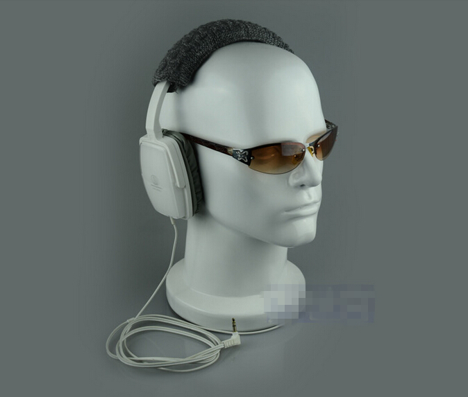 Free Shipping!!Top Level High Grade Luxury Fashionable Mannequin Head Model For Headphone,Glass Display mannequin