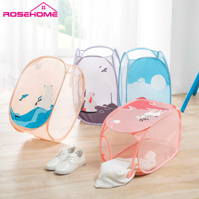 Cute Laundry Bags aliexpress : buy rosehomelaundry basket folding laundry bag