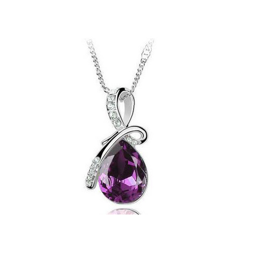 2019 Crystal Water Drop Chain Necklaces & Pendants for Women Fashion Jewelry Gifts J001