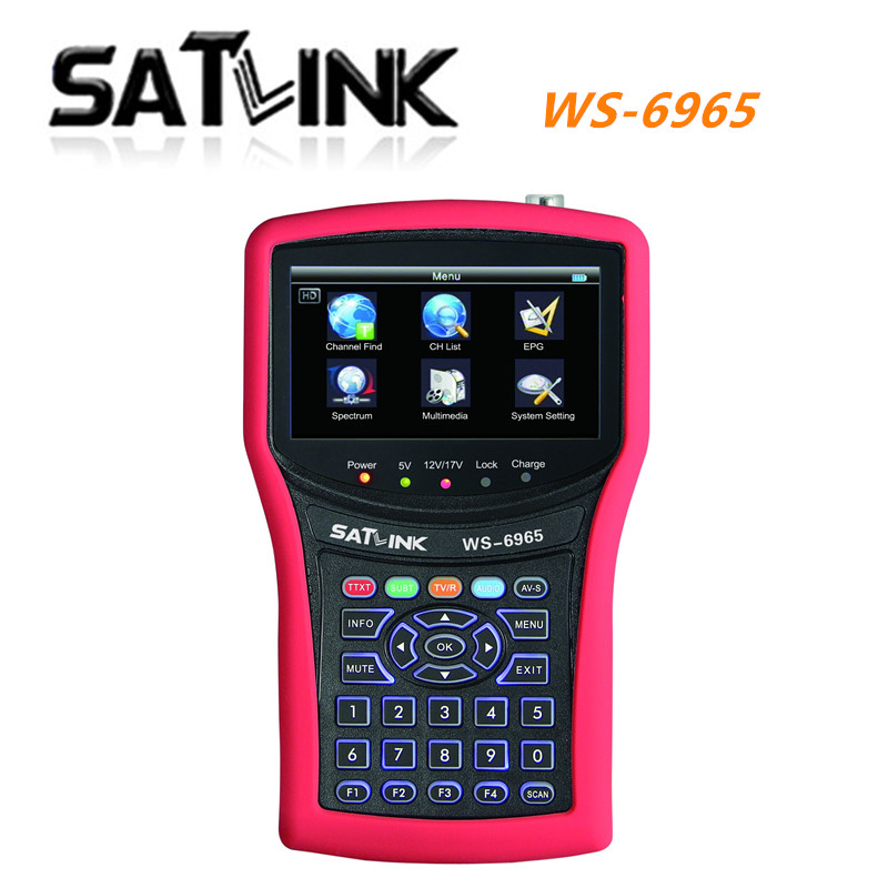 Original  Satlink WS6965 DVB-T&DVB-T2 With Spectrum Analyzer Finder digital meter Satlink 6965 WS-6965 Free Shipping