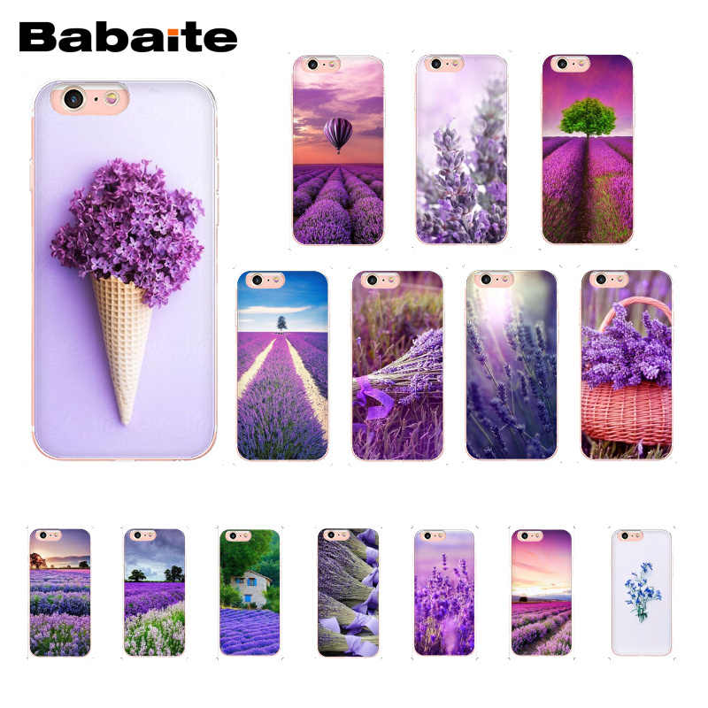 Babaite Simple lavender Purple flowers Cover Phone Case for iphone 11 Pro 11Pro Max 8 7 6 6S Plus X XS MAX 5 5S SE XR