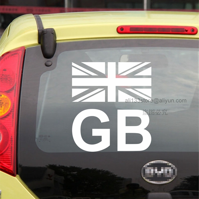 Gb flag uk british england gb union jack flag car decal sticker vinyl truck boat die