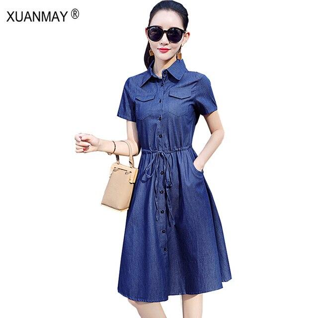 Vestido azul claro casual