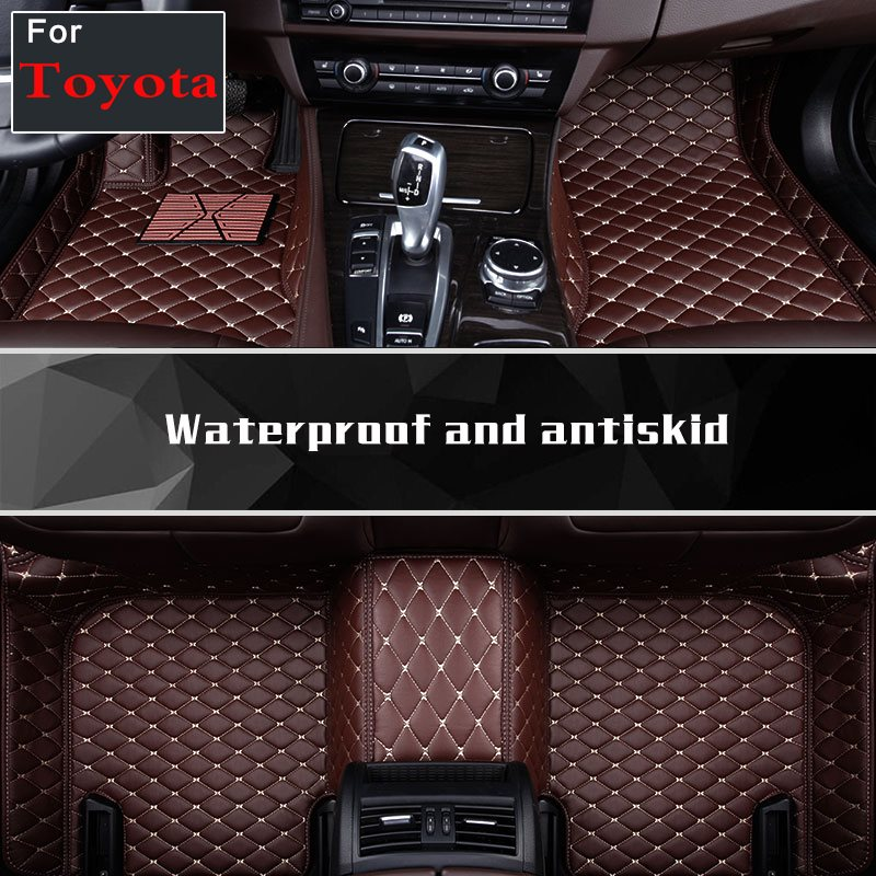 Custom Make Coffee Black Wine Red Car Interior Floor Mats