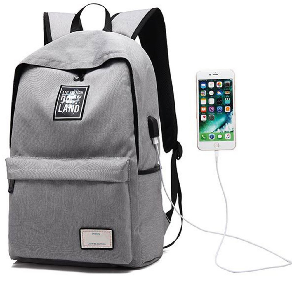 Multifunction USB charging Anti theft Design Men Backpack Travel Casual Bags for Students Fashion Canvas Laptop Rucksack NEW