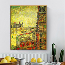 Van Gogh Master View of Paris from Vincent s Room in the Rue Lepic Canvas Painting Poster Print Wall Art Pictures Home Decor