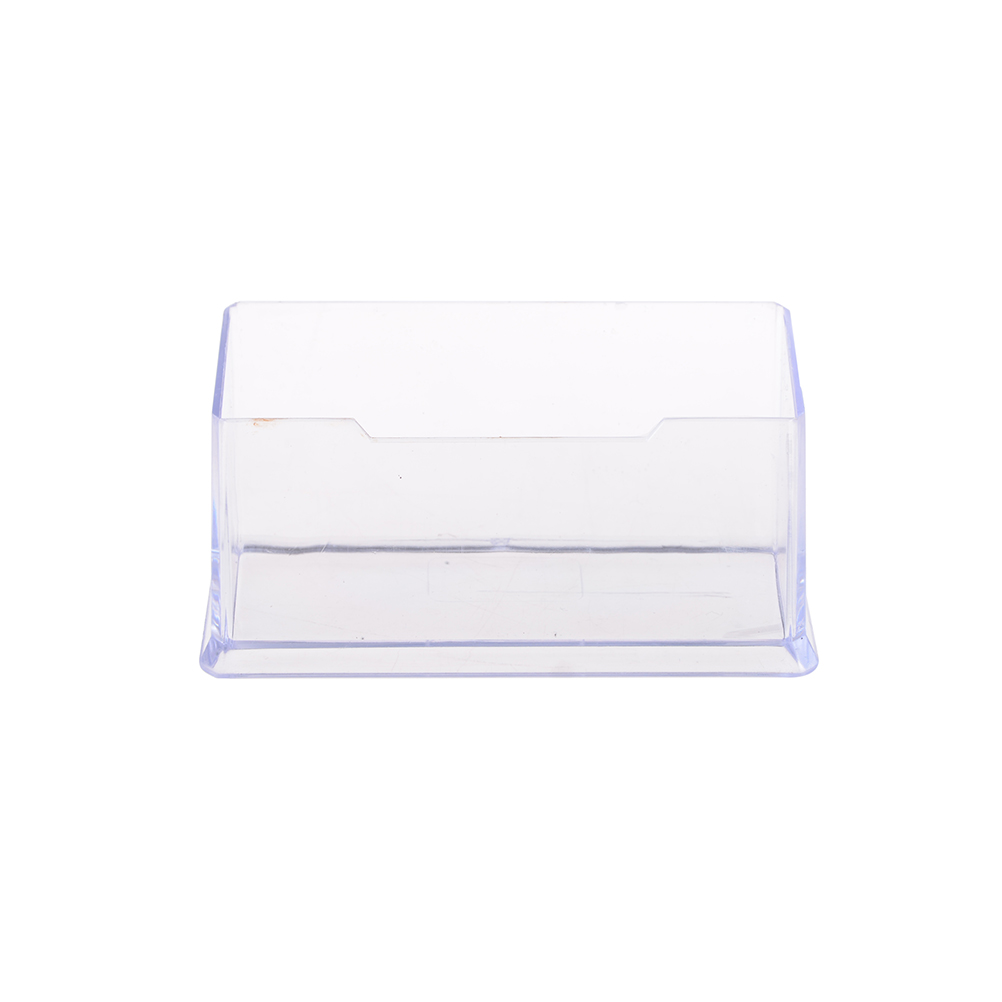 peerless 1pcs plastic display stand acrylic clear desktop business card holder desk shelf box storage - Business Card Holder Desk
