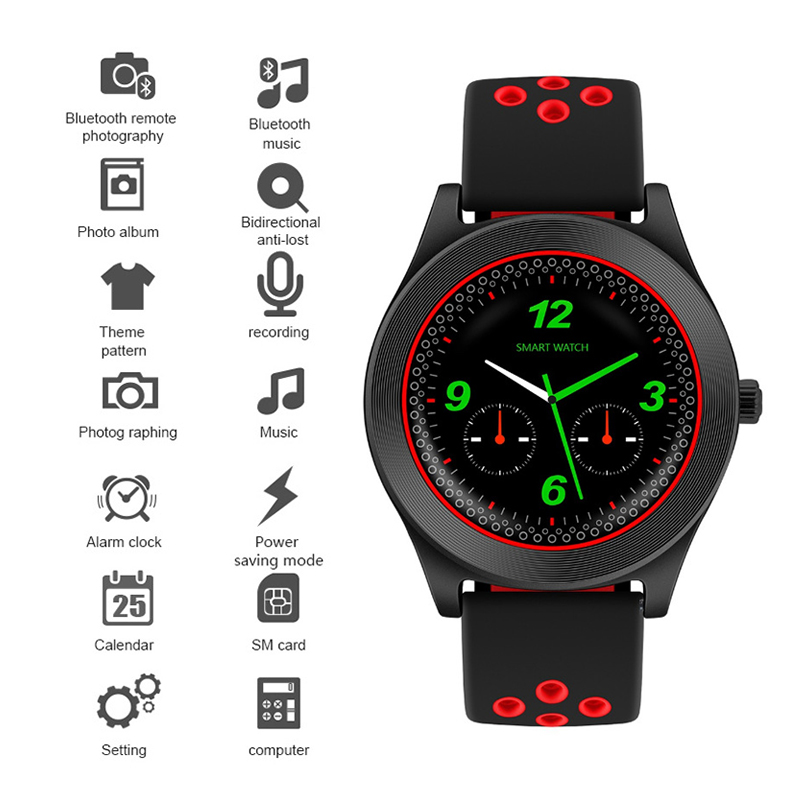 Sports Smart Watch TF8 Fitness Bluetooth Android Wristwatch Support Memory Card SIM Phone Smartwatch